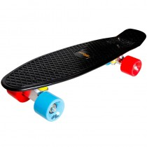 New Sports Retro Skateboard schwarz blau orange ABEC 7