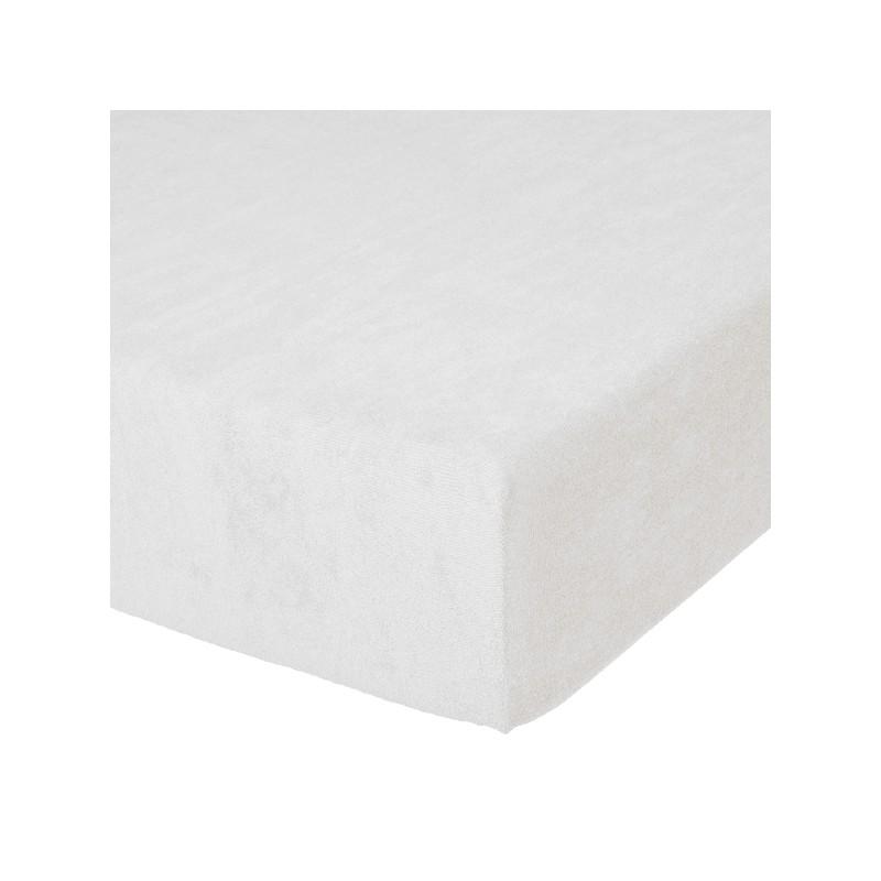 Fixleintuch Spannbetttuch Frottee 70x140 cm Weiss