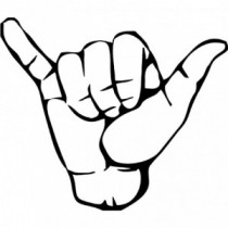 Aufkleber Shaka Hand V1
