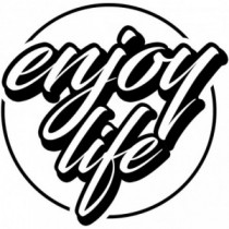 Aufkleber Enjoy Life V3
