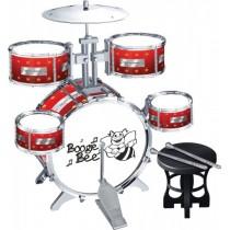 Boogie Bee Kinder Schlagzeug mit Hocker
