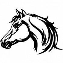 Aufkleber Horse Head V1
