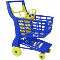 Einkaufswagen aus Kunststoff blau