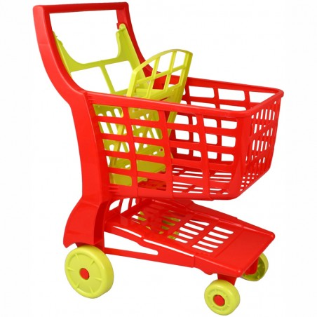 Einkaufswagen aus Kunststoff rot