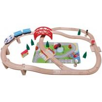 SpielMaus Grosses Eisenbahnset 50-teilig