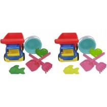 Sandkastenspielzeug LkW mit Sandgarnitur 6-teilig