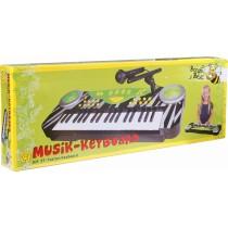 Boogie Bee Elektronisches Keyboard mit Mikrofon 37 Tasten