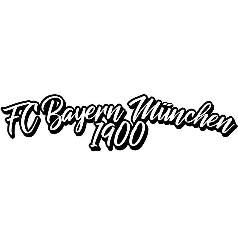 Aufkleber Mit Schriftzug Fc Bayern München 1900 Günstig Online Kaufen Nur Bei Wwwbabystarch Der Onlineshop Autoaufkleber
