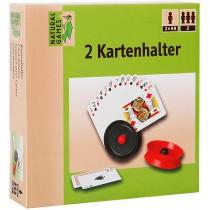 Natural Games Kartenhalter 2 Stück Schwarz Rot