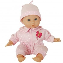 Amia Weichbaby Baby Puppe rosa 30 cm