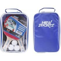 New Sports Tischtennis Set 2 Schläger 3 Bälle inkl. Netz