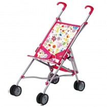 Amia Puppen Buggy Flower Pink