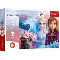 Trefl Puzzle Disney Die Eiskönigin, der Mut der Schwestern 30 Teile