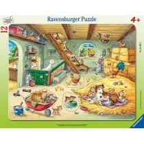 Ravensburger Kinderpuzzle Bauernhofbewohner 12 Teile