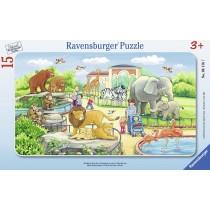 Ravensburger Kinderpuzzle Ausflug in den Zoo 15 Teile