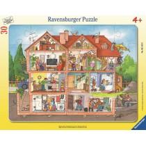 Ravensburger Kinderpuzzle Blick ins Haus 30 Teile