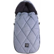 Kaiser Thermo-Sherpa-Fleece Fusssack XL TOO Denim Blue Melange