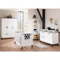 Paidi Kinderzimmer Eliana inkl. Schrank 3 Türen 1 Schublade, Kinderbett und Kommode breit mit Wickelaufsatz