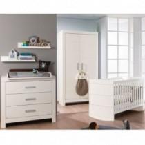 Paidi Kinderzimmer Fiona inkl. Schrank 2-türig, Kinderbett und Kommode breit mit Wickelaufsatz