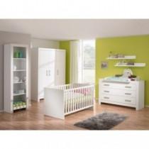 Paidi Kinderzimmer Fiona inkl. Schrank 3-türig, Kinderbett und Kommode breit mit Wickelaufsatz