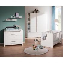 Paidi Kinderzimmer Fiona inkl. Schiebetürenschrank schmal, Kinderbett und Kommode schmal mit Wickelaufsatz