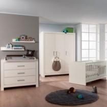 Paidi Kinderzimmer Fiona inkl. Kinderbett und Wickelkommode schmal mit Wickelaufsatz