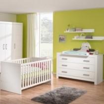 Paidi Kinderzimmer Fiona inkl. Kinderbett und Wickelkommode breit mit Wickelaufsatz