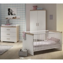 Paidi Transland Kinderzimmer Hilja inkl. Schrank 2-türig, Kinderbett und Kommode mit Wickelaufsatz