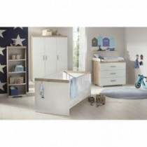 Paidi Transland Kinderzimmer Hilja inkl. Schrank 3-türig, Kinderbett und Kommode mit Wickelaufsatz