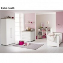 Paidi Kinderzimmer Kira inkl. Schrank 2-türig, Kinderbett und Kommode schmal mit Wickelaufsatz