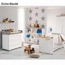 Paidi Kinderzimmer Kira inkl. Kinderbett und Wickelkommode schmal mit Wickelaufsatz