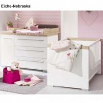 Paidi Kinderzimmer Kira inkl. Kinderbett und Wickelkommode breit mit Wickelaufsatz