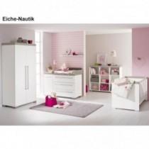 Paidi Kinderzimmer Kira inkl. Schrank 2-türig, Kinderbett und Kommode breit mit Wickelaufsatz