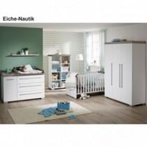 Paidi Kinderzimmer Kira inkl. Schrank 3-türig, Kinderbett und Kommode breit mit Wickelaufsatz
