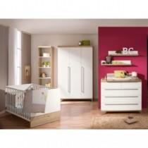 Paidi Kinderzimmer Remo inkl. Schrank 3-türig, Kinderbett und Kommode breit mit Wickelaufsatz