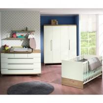 Paidi Kinderzimmer Remo inkl. Schrank 4-türig, Kinderbett und Kommode breit mit Wickelaufsatz