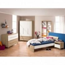 Paidi Kinderzimmer Remo inkl. Schrank 3-türig 2 Schubladen, Kinderbett und Kommode breit mit Wickelaufsatz