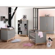 Paidi Kinderzimmer Sten inkl. Schiebetürenschrank breit, Kinderbett und Kommode mit Wickelaufsatz