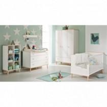 Paidi Kinderzimmer Ylvie inkl. Schrank 3-türig, Kinderbett und Kommode breit mit Wickelaufsatz