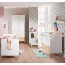 Paidi Kinderzimmer Ylvie inkl. Kinderbett und Wickelkommode schmal mit Wickelaufsatz
