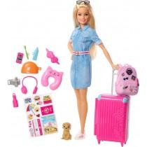 Barbie Reise Puppe und Zubehör