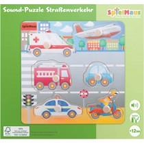 SpielMaus Holzpuzzle Strassenverkehr mit Sound