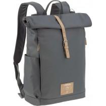 Lässig Wickelrucksack Backpack Rolltop Anthrazit