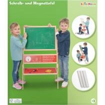 SpielMaus Holz Schreib- und Magnettafel mit Kreide