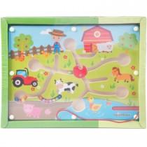 SpielMaus Kugellabyrinth mit Magnetstift Bauernhof