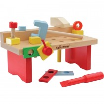 SpielMaus Holz Werkbank 15-teilig