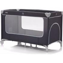 Fillikid Reisebett mit Komfortmatratze 60x120 cm Dunkelgrau
