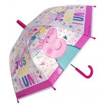 Peppa Wutz Regenschirm transparent