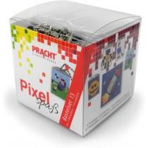 Pixel Bastelset 15 Smiley, Fussballspieler, Rakete