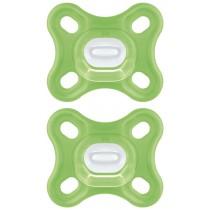 MAM Comfort Silikonnuggi 2 Stück ab 0 Monate Grün